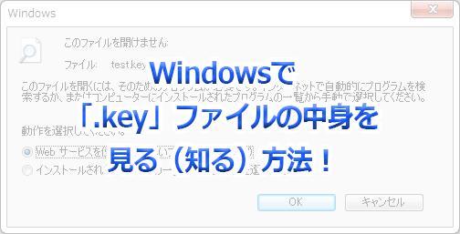 Windowsで「.key」の中身を見る(知る)方法